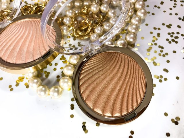Milani Strobelight Instant Glow Powder 04 Glowing Swatches on Dark Skin