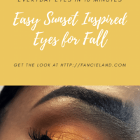 Easy Sunset Inspired Eyes for Fall + Eyeshadow Tutorial