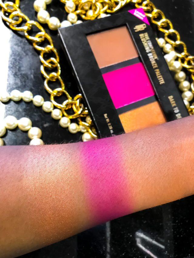 Black Radiance Blushing Bronze Palette in Dark to Deep Swatches Review Dark Skin