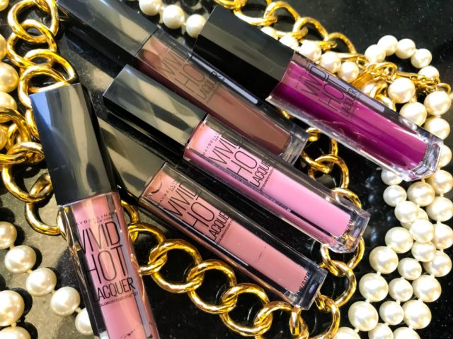 Maybelline Vivid Hot Lacquers Swatches Review on Dark Skin
