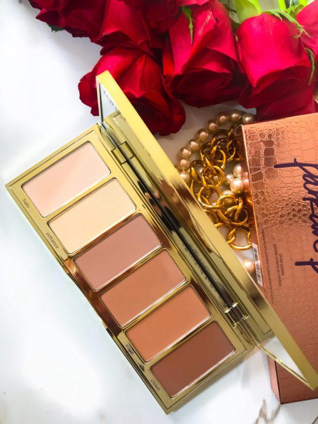 Makeup Palettes for Christmas: Tarte Park Ave Princess Chisel Palette Bronzer Bar Swatches on Dark Skin