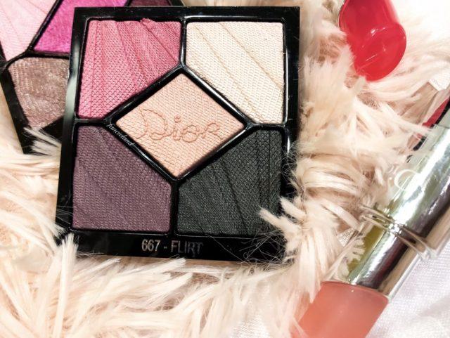 Dior Glow Addict Spring 2018 Collection 5 Couleurs Palette 667 Flirt Swatches on Dark Skin