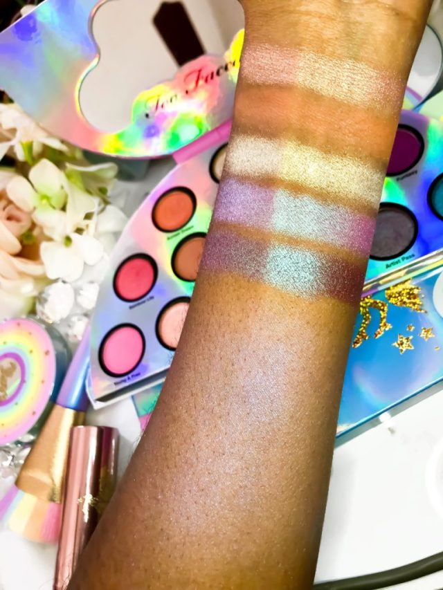 Too Faced Life's A Festival Collection Eyeshadow Palette Swatches on Dark Skin Brown Skin
