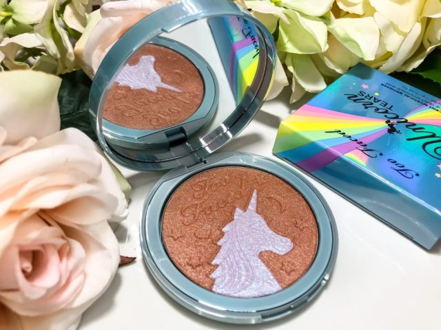 Too Faced Life's A Festival Collection Unicorn Tears Bronzer Swatches on Dark Skin Brown Skin