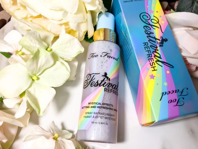 Too Faced Life's A Festival Festival Refresg Mystical Effects Setting and Refreshing Spray