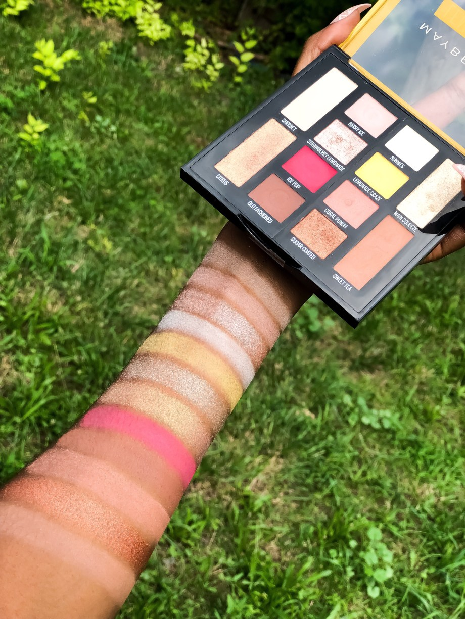 Maybelline Lemonade Craze Eyeshadow Palette Review Swatches on Dark Skin