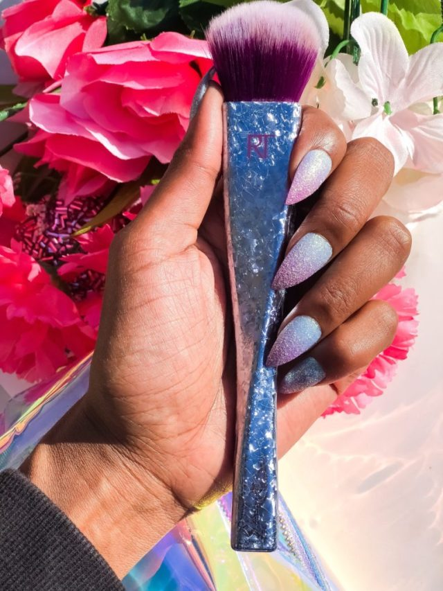 Manicure Monday - Claire's Press On Nails Stiletto Blue Purple Ombre Glitter