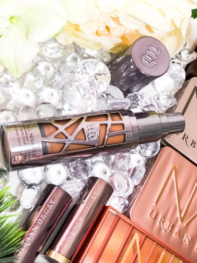 Urban Decay All Nighter Foundationin 9.75 Swatches Review Dark Skin