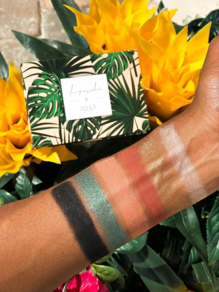 Dose of Colors x ILuvSarahii Eyeshadow Palette Review Swatches on Dark Skin