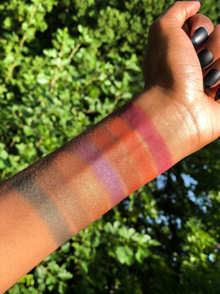Urban Decay Born to Run Palette Review Swatches on Dark Skin
