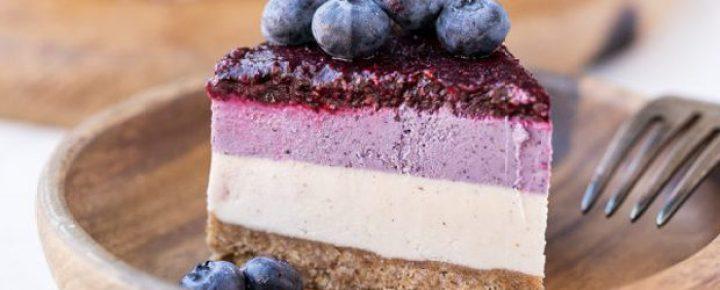 No-Bake Layered Blueberry Cheesecake