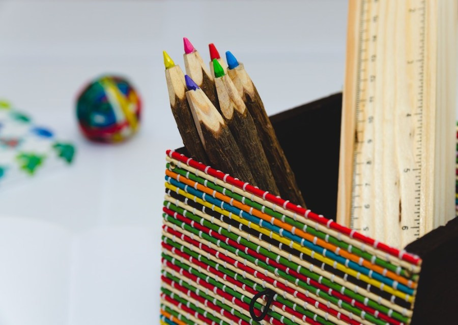 Colored-Pencils-on-a-white-table-desk