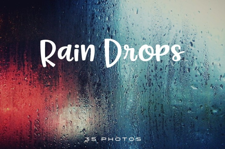 Rain Drops Photo Pack