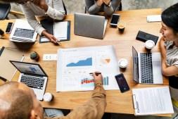 Digital Marketing team going over ideas