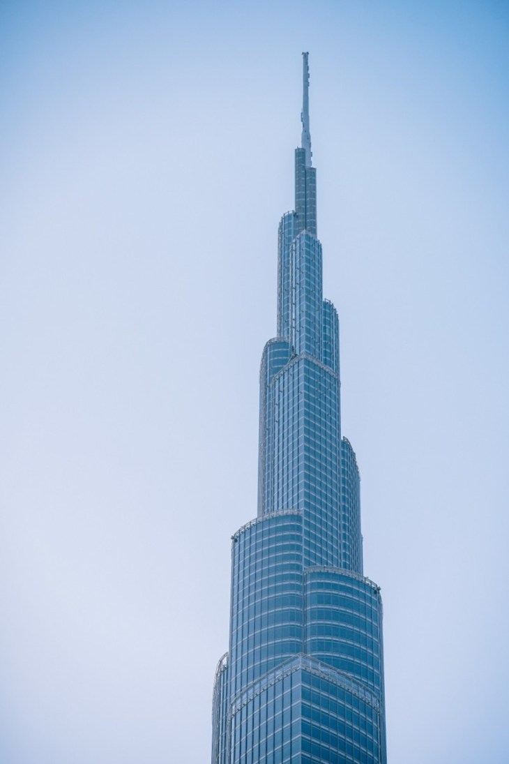 Beautiful-Shot-of-the-Burj-Khalifa-with-the-Sky-in-the-Background