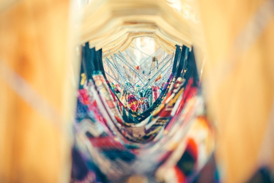 Close-Up-Photography-of-Colorful-Dresses-Hanging