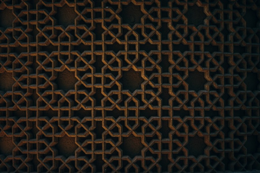 Islamic-Pattern-at-a-Stone-Wall-of-a-Mosque