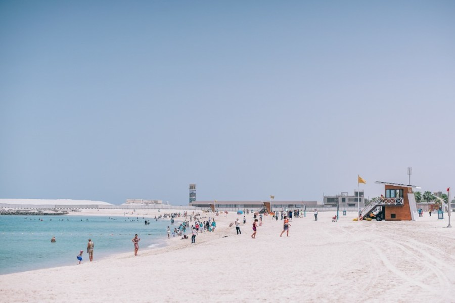 People-Enjoying-the-Sun-at-the-Dubai-Beach