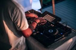 DJ Playing a Sunset Set in Koh Phnagan, Thailand