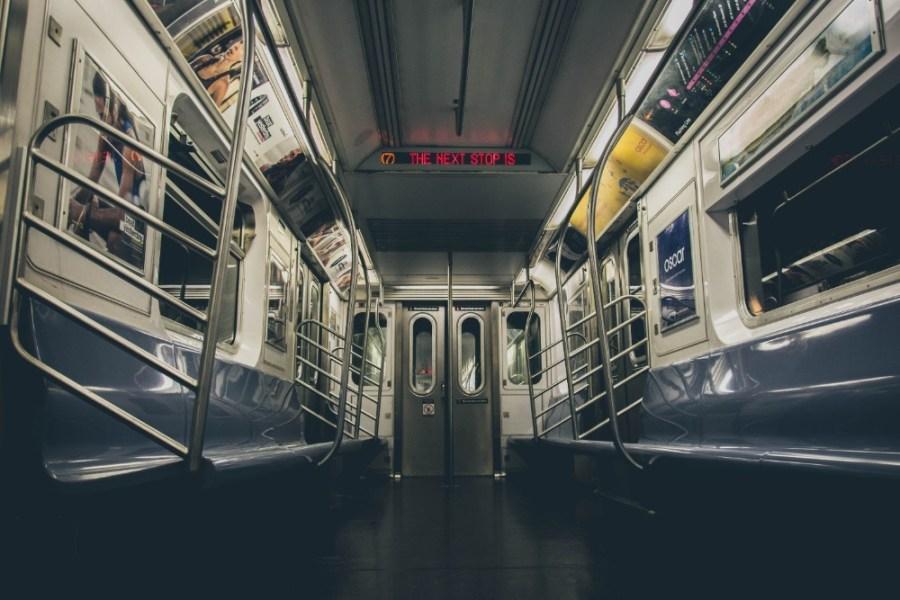 Empty-New-York-City-Subway-Train