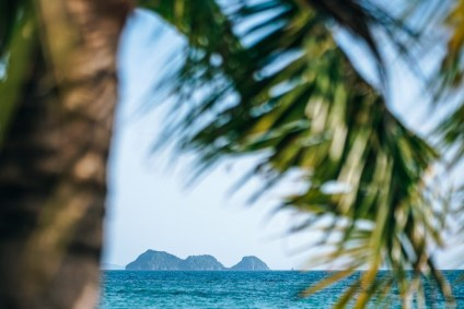 Three-Islands-Photographed-Behind-a-Palm-Tree