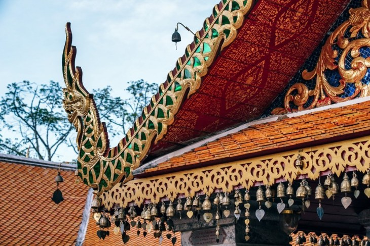 Bells-Hanging-Down-from-the-Roof-of-the-Doi-Suthep-Temple