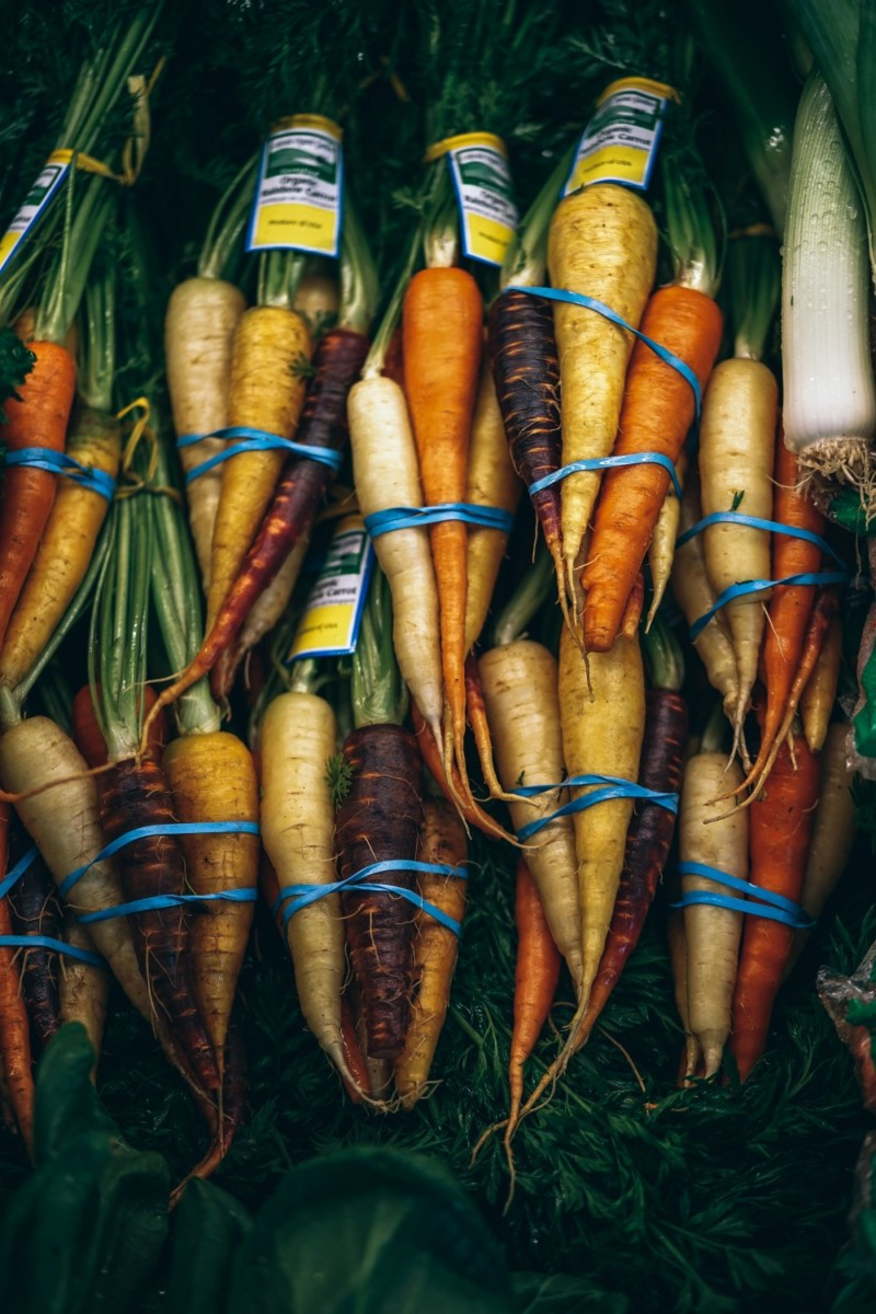 Close-up-Shot-of-Colorful-Organic-Vegetables