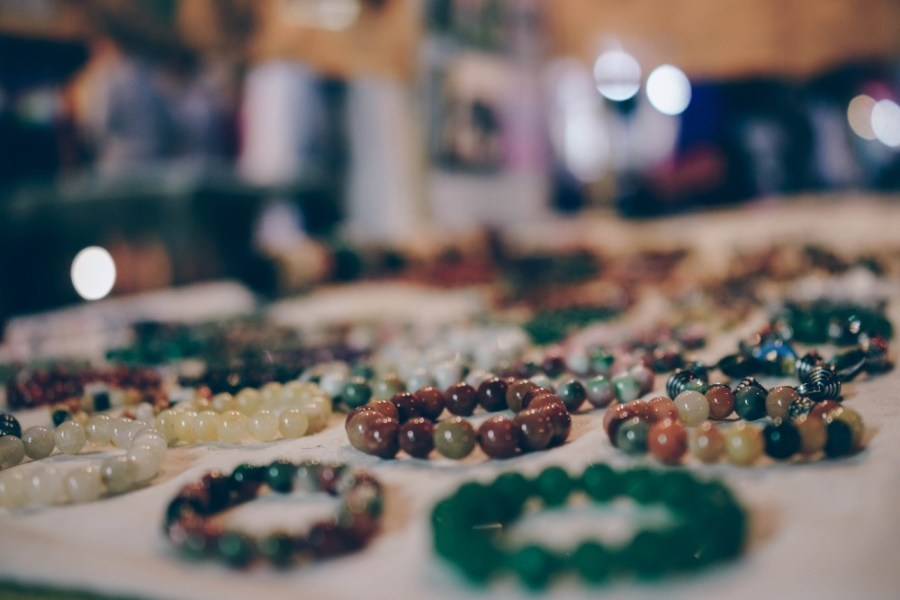 Close-up-Shot-of-Hand-Crafted-Jewelry-for-Sale