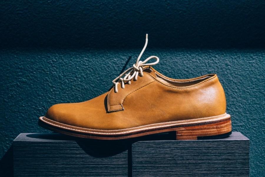 Close-up-Shot-of-a-Beautiful-Male-Leather-Shoe