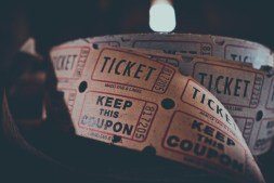 Close-up-Shot-of-a-Roll-of-Coupons-and-Tickets