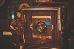 Close-up-Shot-of-an-Antique-Camera
