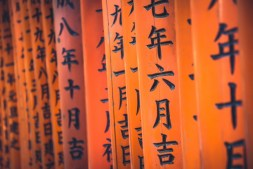 Close-up-Shot-of-the-Carved-Letters-on-The-Amazing-Torii-Gates