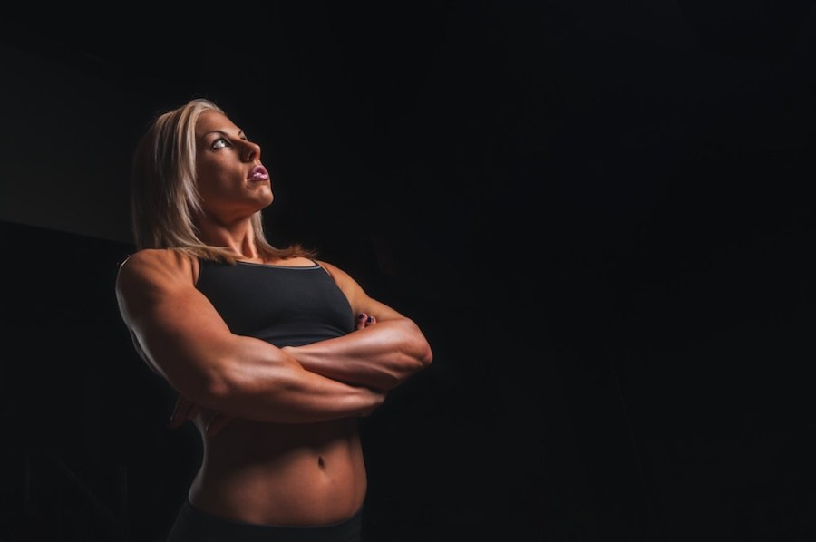 Fitness-Woman-Lookign-Up