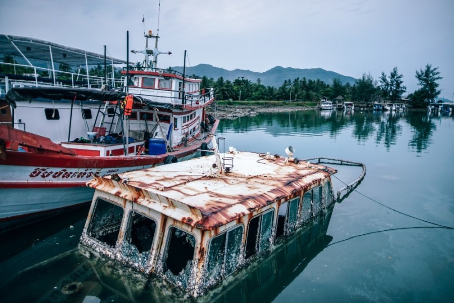 Sunken-Boat-with-a-Rusted-Rooftop