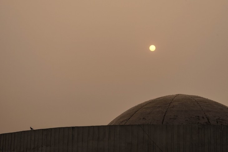 Top-of-a-Mosque-under-the-Hazy-Sun