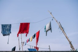 Colorful-Clothes-Drying-on-a-Clothesline
