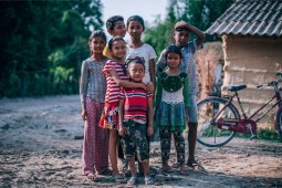 Happy-Nepali-Village-Kids-Posing-for-a-Photograph
