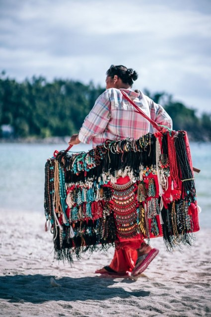 Jewelry-Seller-walking-across-the-Beach