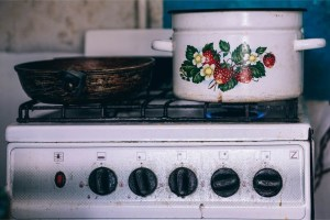 Pan-and-a-Pot-on-a-Gas-Stove