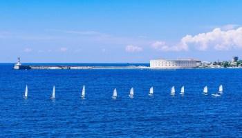 Big Shipping Boat Sailing Out of Sevastopol | Fancycrave