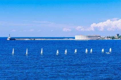 Small-Boats-Aligned-near-the-Dock-in-Sevastopol