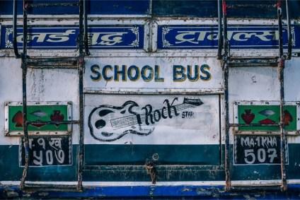 White-School-Bus-Board
