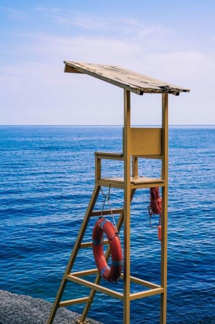 Yellow-Lifeguard-Chair-at-the-Beach-in-Sevastopol