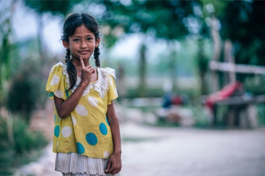 Young-Nepali-Girl-Smiling-at-the-Camera