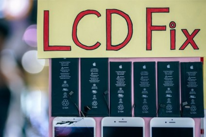"""LCD-Fix""-Sign-Outside-of-a-Mobile-Repair-Shop"