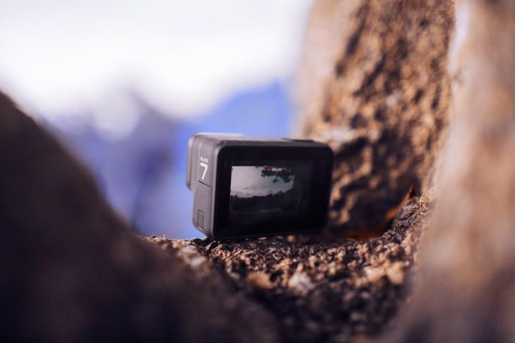 black action camera