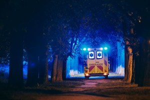 ambulance of emergency medical service qhnr