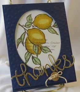 Gold Lemon Thanks