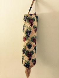 Grapes Plastic Grocery Bag Holder  Fancy Holders by Gloria