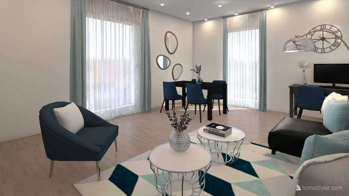 Blue tones-Living and Dining Room-73